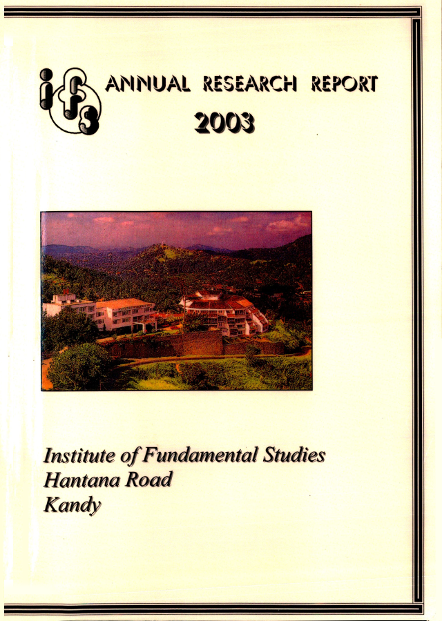 Annual Research Review 2003 EN